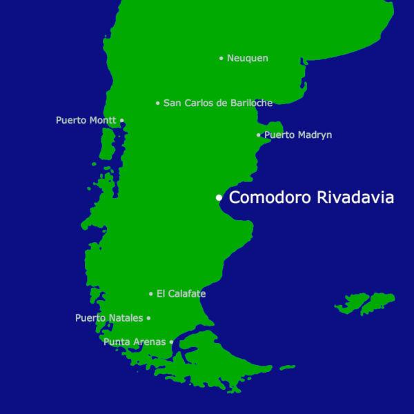 Comodoro Rivadavia Karte