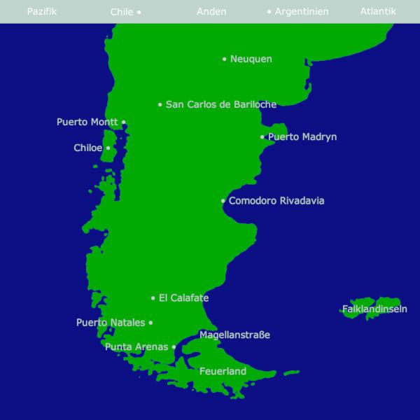 Patagonien Karte