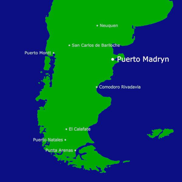 Puerto Madryn Karte