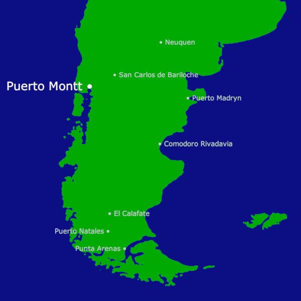 Puerto Montt Karte