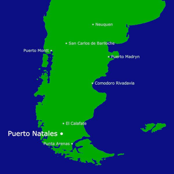 Puerto Natales Karte