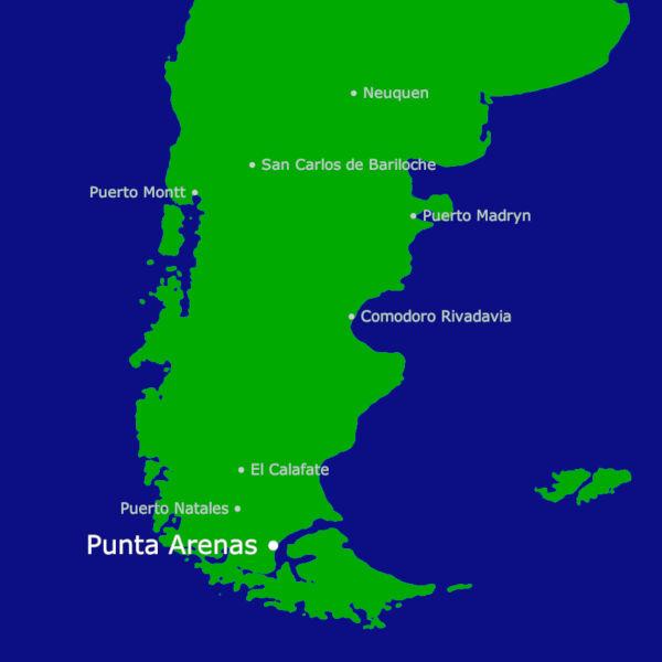 Punta Arenas Karte