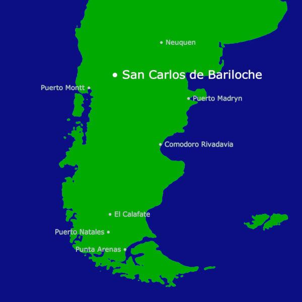 San Carlos de Bariloche Karte